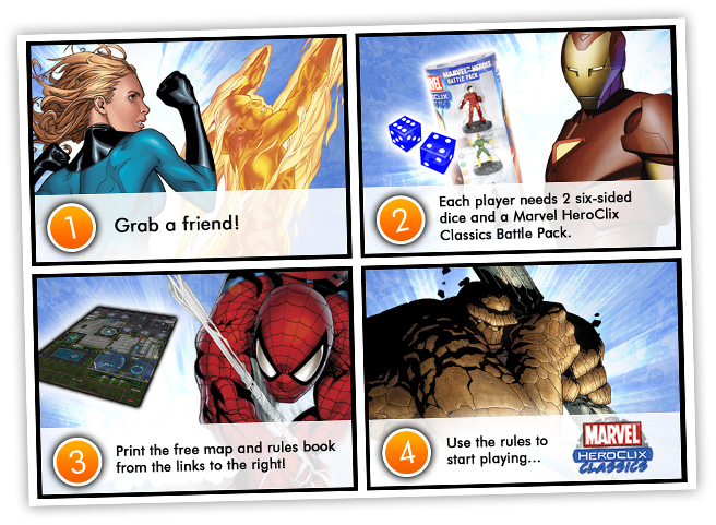 Start Playing with the Marvel Heroclix Classics Battle Pack!