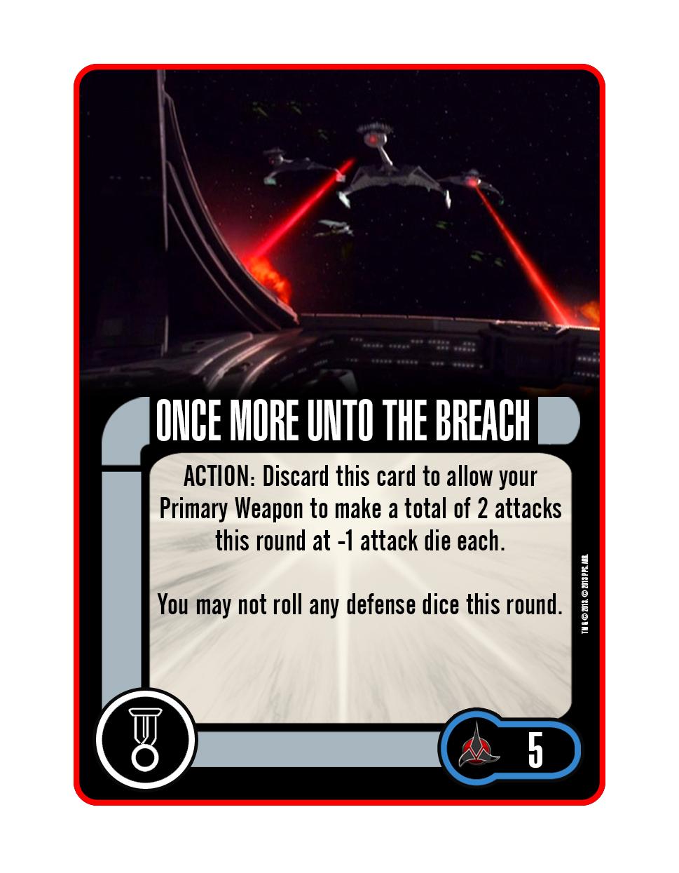 Upgrade - Once More Unto the Breach