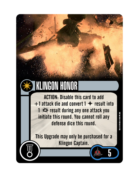 Elite KLINGON HONOR