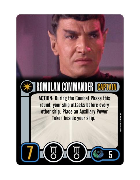 Romulan Captain ROMULAN COMMANDER