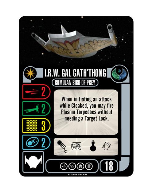 Starship Romulan IRW GAL GATH'THONG